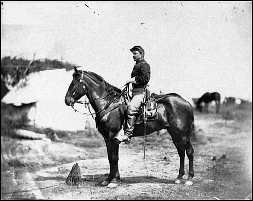 [Falmouth, Va. Capt. Charles H. Howard, aide to Gen. Oliver O. Howard, on horseback at Army of the Potomac headquarters]