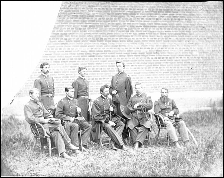 [Washington, D.C. Gen. John F. Hartranft and staff, responsible for securing the conspirators at the Arsenal]