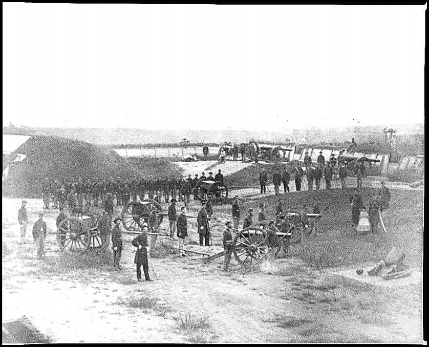 [Washington, D.C. Company M, 9th New York Heavy Artillery, in a fort]