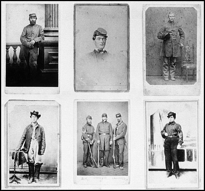 [Portrait of a group of Federal soldiers]