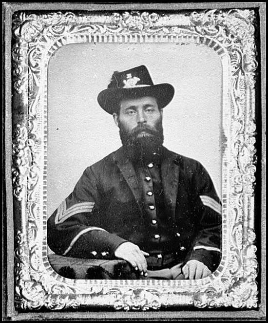 [Portrait of Sgt. Joseph E. Averill, Company K, 6th Vermont Infantry, U.S.A.]