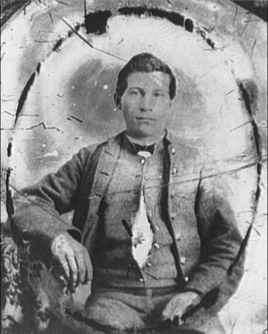 [Portrait of Pvt. John J. Rhodes, Company K, 5th Virginia Regiment, C.S.A. (Stonewall Brigade)]