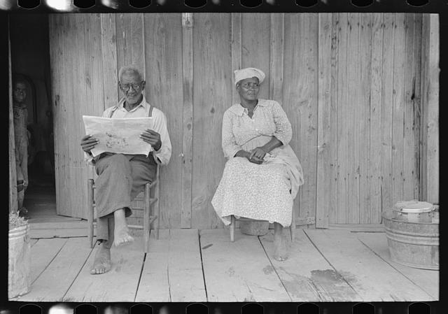 Husband and wife, old sharecroppers, New Madrid County, Missouri.  May 1938.  Lee Russell, photographer.  Library of Congress.