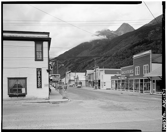 1.  BROADWAY AVENUE FROM SECOND AVENUE, LOOKING NORTHEAST - City of Skagway, Skagway, Skagway-Hoonah-Angoon Census Area, AK