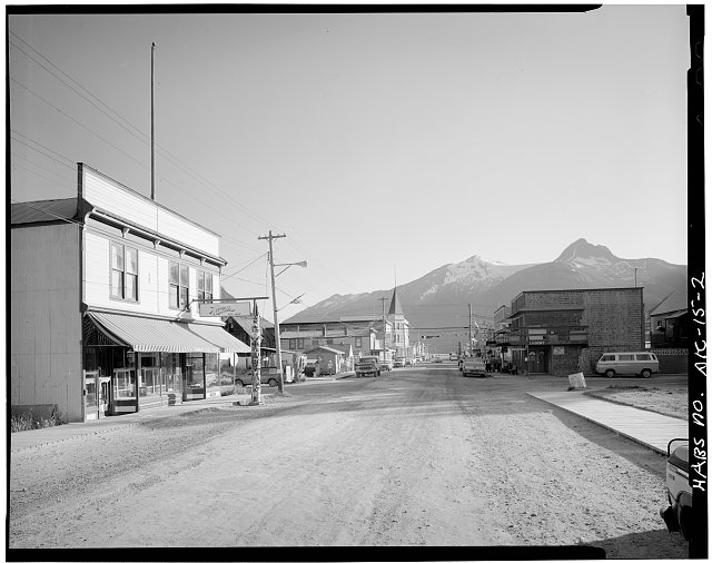 2.  BROADWAY AVENUE FROM SEVENTH AVENUE, LOOKING SOUTHWEST - City of Skagway, Skagway, Skagway-Hoonah-Angoon Census Area, AK