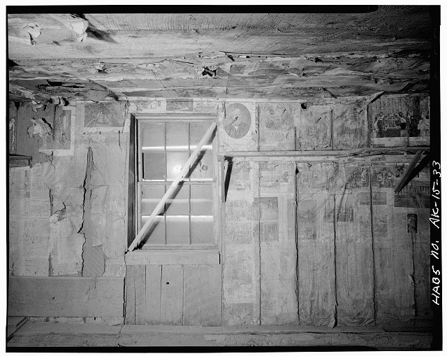 33.  MOORE CABIN (1887), INTERIOR, NORTH WALL - City of Skagway, Skagway, Skagway-Hoonah-Angoon Census Area, AK