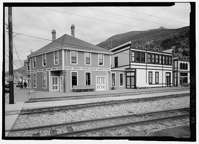 Southside and back of administration and depot building - City of Skagway, Skagway, Skagway-Hoonah-Angoon Census Area, AK