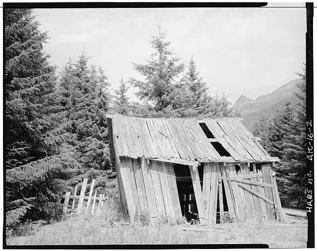 2.  BARN, LOOKING NORTH - Town of Dyea, Skagway, Skagway-Hoonah-Angoon Census Area, AK