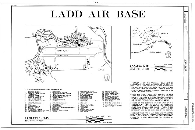 HABS AK,6-FAIBA,1- (sheet 1 of 1) - Ladd Field, Fort Wainwright, Fairbanks, Fairbanks North Star Borough, AK