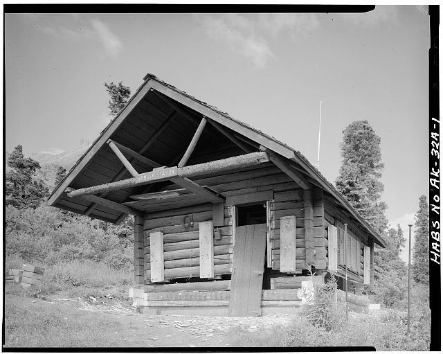 1.  FRONT, LOOKING NORTH - Mount McKinley Patrol, Igloo Creek Cabin No. 25, Naer Igloo Creek, mile 34.1, Cantwell, Denali Borough, AK