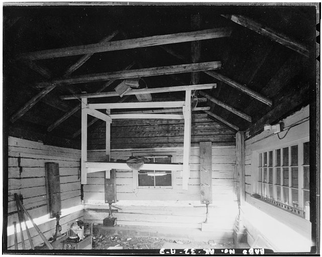 3.  INTERIOR, LOOKING SOUTH - Mount McKinley Patrol, Igloo Creek Cabin No. 25, Naer Igloo Creek, mile 34.1, Cantwell, Denali Borough, AK