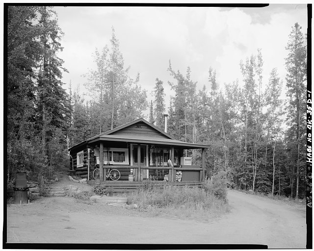 1.  FRONT, FACING NORTH - Mount McKinley Headquarters, Employee Residence, Cantwell, Denali Borough, AK