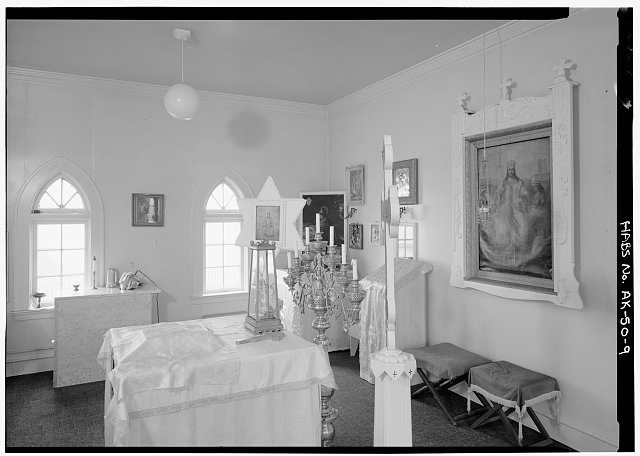 9.  INTERIOR, SANCTUARY, LOOKING NORTHEAST - Saint George Russian Orthodox Church, St. George Island, Pribilof Islands, Saint George, Aleutians West Census Area, AK