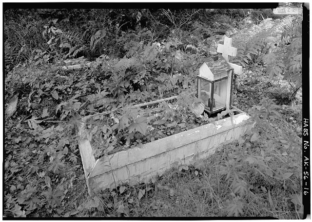 16.  GRAVE WITH SMALL ALTAR - Nativity of Our Lord Russian Orthodox Church, Spruce Island, Ouzinkie, Kodiak Island Borough, AK