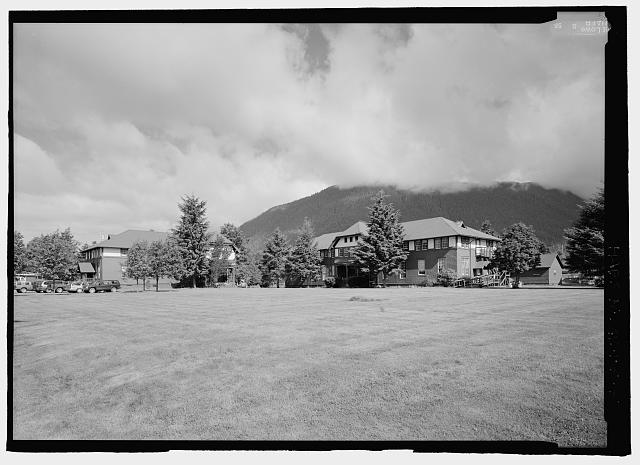 Corner; Stevenson Hall and North Pacific Hall, looking northwest - Sheldon Jackson College, Lincoln Street, Sitka, Sitka Borough, AK