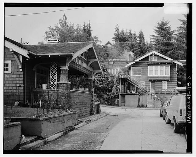 2.  SOUTHEAST FRONT, LOOKING EAST - Norman R. Walker House, 541 Pine Street, Ketchikan, Ketchikan Gateway Borough, AK