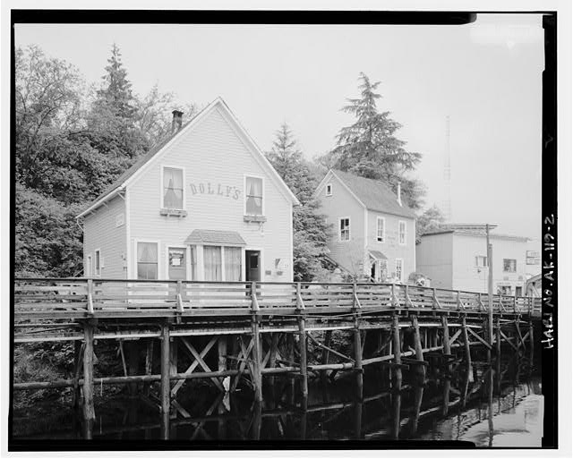 2.  NORTH SIDE AND WEST FRONT - Dolly's House, 24 Creek Street, Ketchikan, Ketchikan Gateway Borough, AK