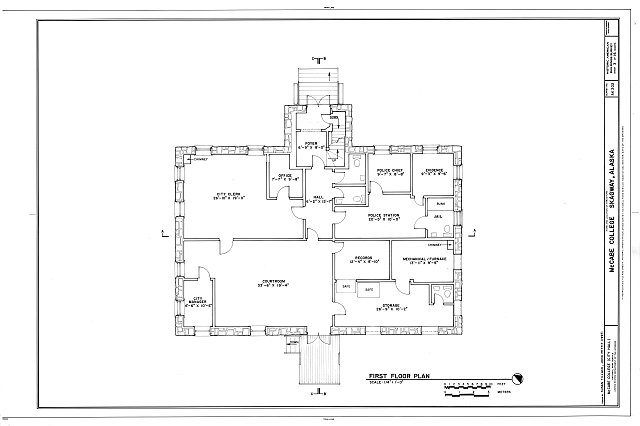 First Floor Plan - McCabe College, End of Seventh Avenue, East of Broadway Avenue, Skagway, Skagway-Hoonah-Angoon Census Area, AK