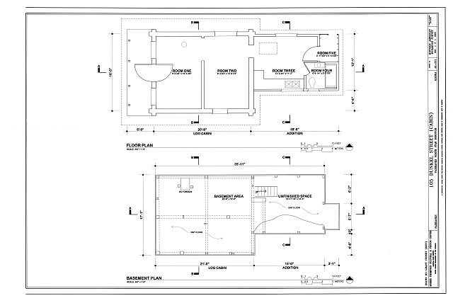Floor Plans - 105 Dunkel Street (Cabin), 105 Dunkel Street, Fairbanks, Fairbanks North Star Borough, AK