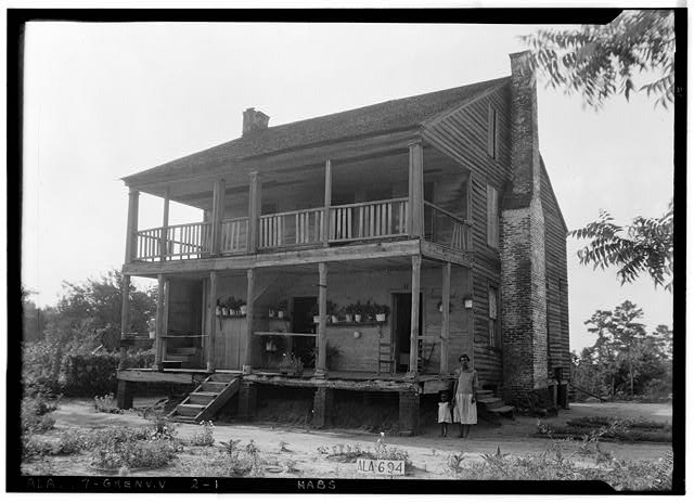 1.  Historic American Buildings Survey W. N. Manning, Photographer, June 12, 1935. FRONT AND SIDE VIEW, S. E. - Tavern & Stage Inn, County Road 58, Greenville, Butler County, AL