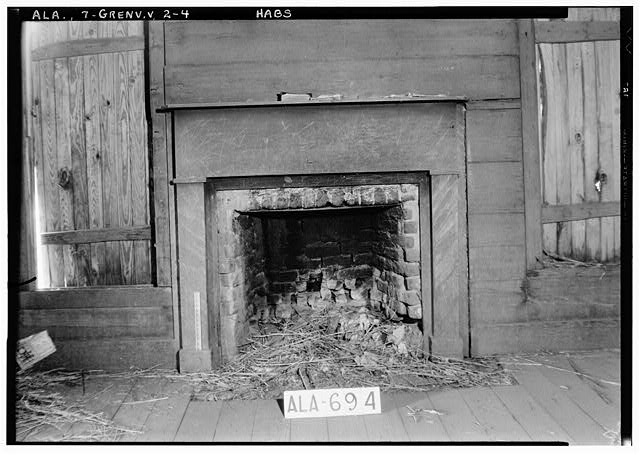 4.  Historic American Buildings Survey W. N. Manning, Photographer, June 12, 1935. FIREPLACE IN S.W. ROOM, UPSTAIRS - Tavern & Stage Inn, County Road 58, Greenville, Butler County, AL