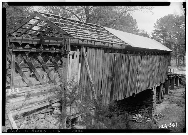 2.  Historic American Buildings Survey Alex Bush, Photographer, April 29, 1936 NORTH END AND WEST SIDE OF BRIDGE - Cripple Deer Creek Covered Bridge, Allsboro, Colbert County, AL