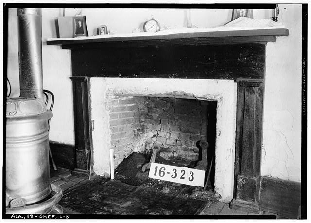 3.  Historic American Buildings Survey W. N. Manning, Photographer, March 27, 1934. FIREPLACE. - Bonner House, 2708 Tenth Avenue, Sheffield, Colbert County, AL