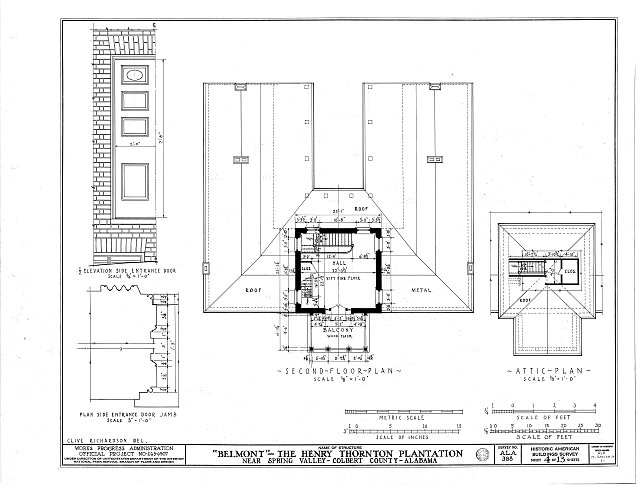 HABS ALA,17-SPRIVA.V,1- (sheet 4 of 13) - Belmont, U.S. Highway 43, Spring Valley, Colbert County, AL