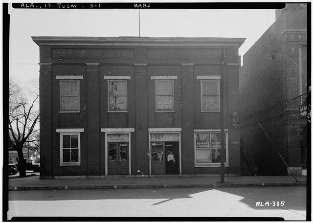 1.  Historic American Buildings Survey Alex Bush, Photographer, March 27, 1935 FRONT VIEW - WEST ELEVATION - Carriage Factory, Main & East Fourth Streets, Tuscumbia, Colbert County, AL