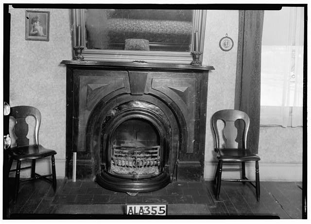 5.  Historic American Buildings Survey Alex Bush, Photographer, January 26, 1935 FIREPLACE IN S.W. ROOM - Newsome-Minor House, 204 North Main Street, Tuscumbia, Colbert County, AL