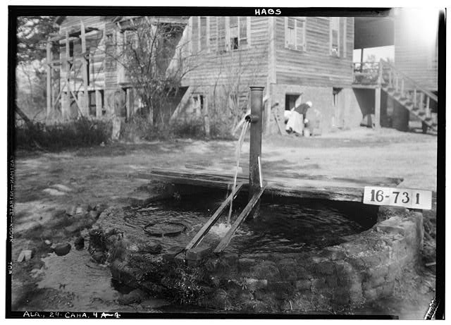 4.  Historic American Buildings Survey W. N. Manning, Photographer, March 23, 1934. DETAIL (OLD WELL) - Bell House, First North & Oak Streets, Cahaba, Dallas County, AL
