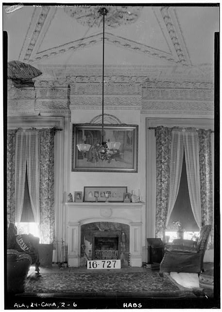 6.  Historic American Buildings Survey W. N. Manning, Photographer, March 23, 1934. FIREPLACE AND MANTEL (LIVING ROOM) - Kirkpatrick House, Oak Street, Cahaba, Dallas County, AL