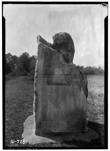 1.  Historic American Buildings Survey W. N. Manning, Photographer, March 23, 1934. MARKER-FIRST STATE CAPITAL OF ALABAMA. (SITE) - Monument, Cahaba, Dallas County, AL