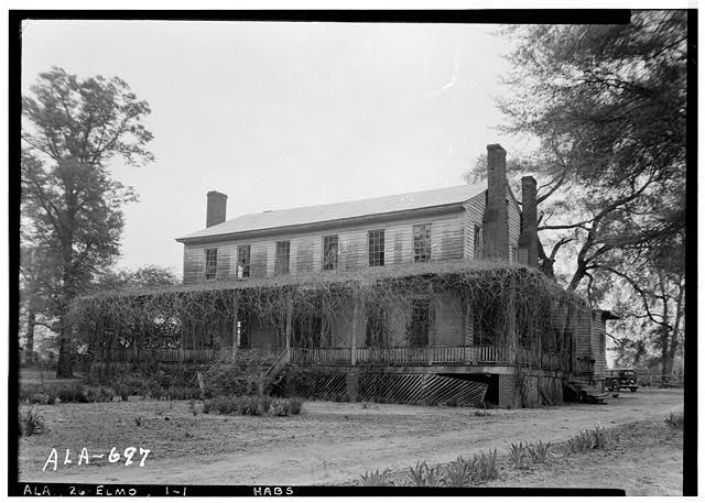 1.  Historic American Buildings Survey W. N. Manning, Photographer, March 30, 1935 FRONT AND SIDE VIEW N.W. - Governor Benjamin Fitzpatrick House, State Route 14 vicinity, Elmore, Elmore County, AL