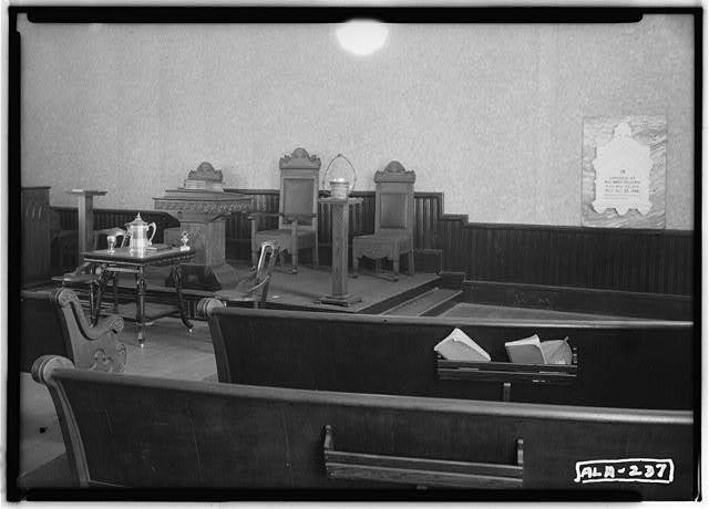 View of altar - Baptist Church, State Route 61, Newbern, Hale County, AL
