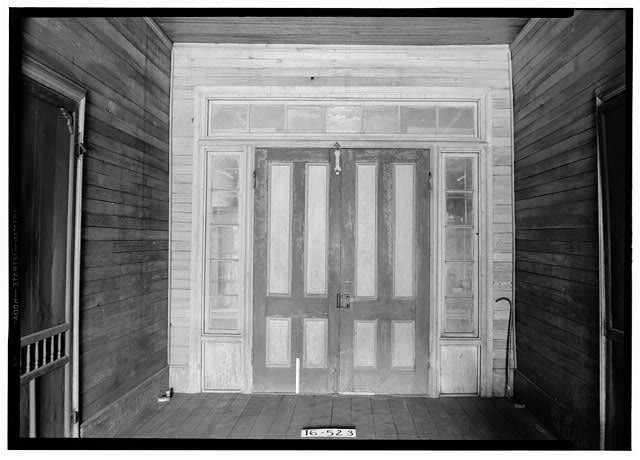 3.  Historic American Buildings Survey W. N. Manning, Photographer, December 11, 1934 HALL AND REAR DOOR, N. END OF HOUSE - Oates-Danzey House, West Washington & Trawick Streets, Abbeville, Henry County, AL