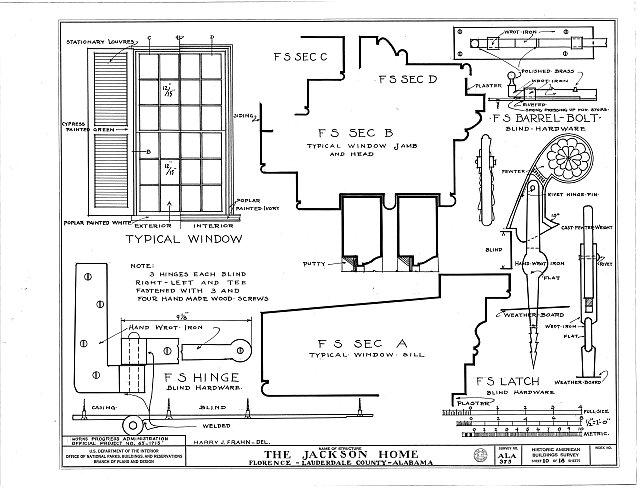 HABS ALA,39-FLO.V,3- (sheet 10 of 18) - Forks of Cypress, Savannah Road (Jackson Road), Florence, Lauderdale County, AL