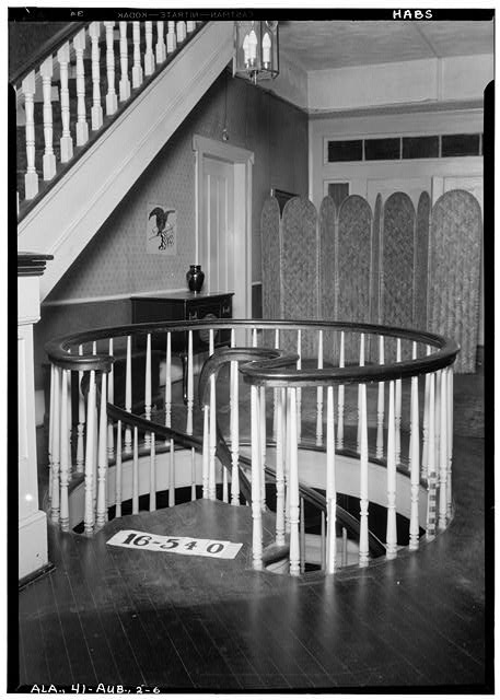 6.  Historic American Buildings Survey W. N. Manning, Photographer, January 19, 1934. STAIRWAY FIRST FLOOR. - Holliday-Carey House, 360 North College Street, Auburn, Lee County, AL