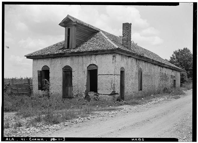 3.  Historic American Buildings Survey E. W. Russell, Photographer, June 19, 1937 OLD COMMISSARY BUILDING, FROM SOUTH EAST. - Chewacla Limeworks, Limekiln Road, Chewacla, Lee County, AL