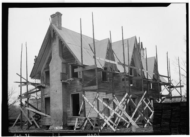 2.  Historic American Buildings Survey W. N. Manning, Photographer, January 20, 1934. REAR VIEW. - Spring Villa, Spring Villa Road, Opelika, Lee County, AL