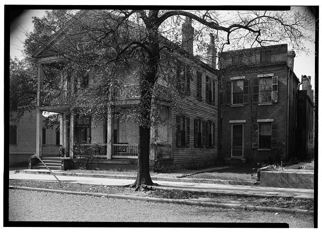 11.  Historic American Buildings Survey E. W. Russell, Photographer, February 23, 1937 EAST (FRONT) AND NORTH SIDE ELEVATION - 251 North Conception Street (House), Mobile, Mobile County, AL
