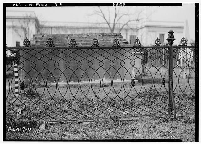 4.  Historic American Buildings Survey E. W. Russell, Photographer, April 7, 1936 FENCE IN OLD CHURCH STREET CEMETERY - Church Street Cemetery, Church & Bayou Streets, Mobile, Mobile County, AL