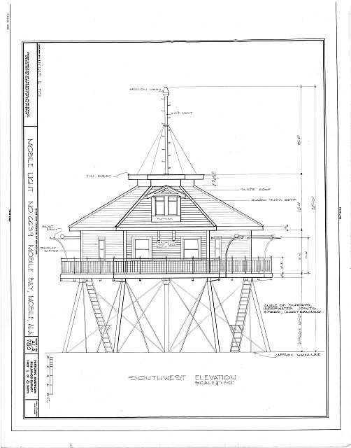 HABS ALA,49-MOBI,116- (sheet 4 of 5) - Mobile Light No. 6639, Mobile Bay, Mobile, Mobile County, AL