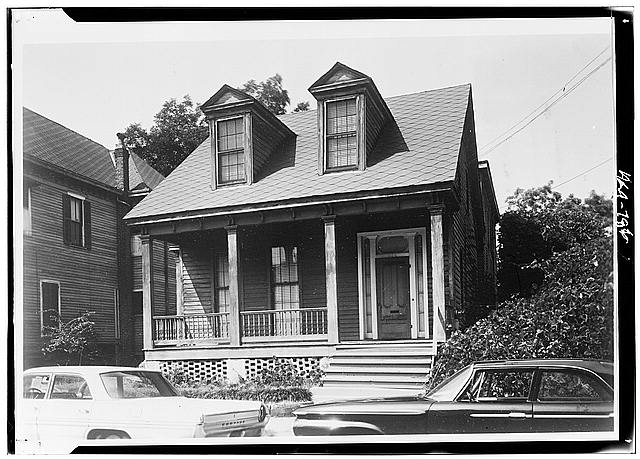 2.  Historic American Buildings Survey Roy Thigpen, Photographer August 1966 EAST (FRONT) ELEVATION - 204 South Joachim Street (House), Mobile, Mobile County, AL