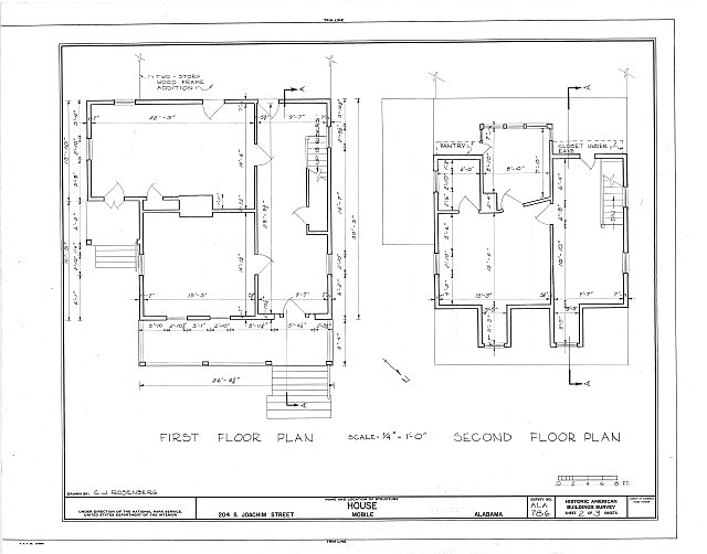 HABS ALA,49-MOBI,119- (sheet 2 of 3) - 204 South Joachim Street (House), Mobile, Mobile County, AL