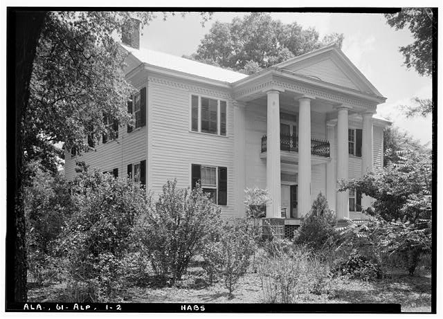 2.  Historic American Buildings Survey E. W. Russell, Photographer, June 18, 1937 FRONT, LOOKING NORTH EAST - Alpine, County Road 46, Alpine, Talladega County, AL