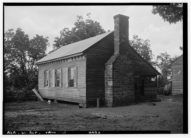 13.  Historic American Buildings Survey E. W. Russell, Photographer, June 18, 1937 OLD KITCHEN IN REAR ON NORTH OF MAIN HOUSE LOOKING NORTHEASE - Alpine, County Road 46, Alpine, Talladega County, AL