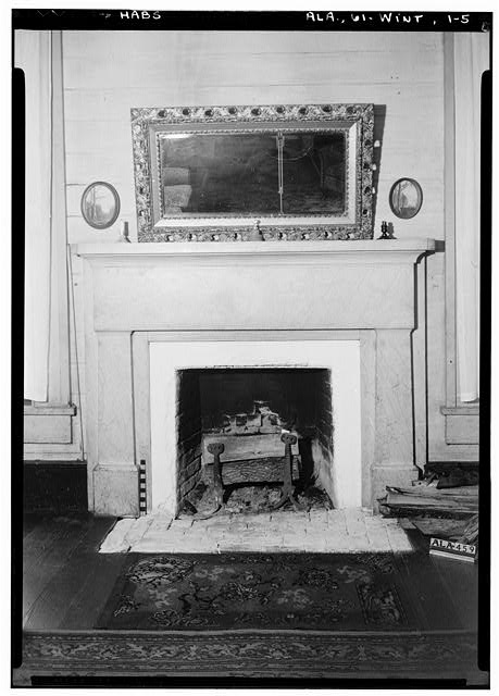 5.  Historic American Buildings Survey Alex Bush, Photographer, February 1, 1937 MANTEL ON WEST WALL OF N. E. ROOM, FIRST FLOOR - Morriss-Holmes House, State Route 76, Winterboro, Talladega County, AL