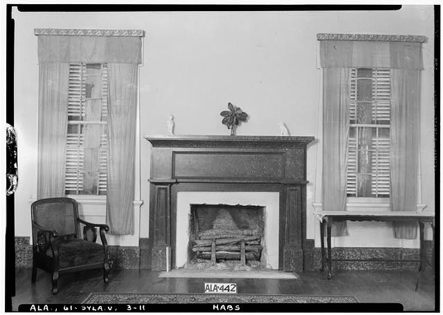 11.  Historic American Buildings Survey Alex Bush, Photographer, May 9, 1935 MANTEL IN N.E. FRONT ROOM (PARLOR) - Mount Ida, County Road 11, Sylacauga, Talladega County, AL