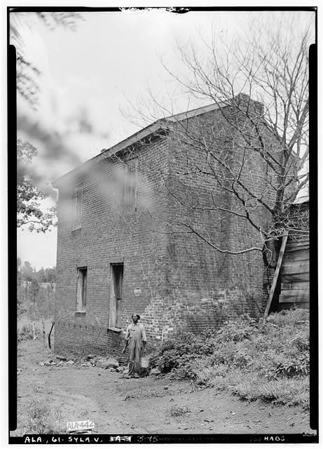15.  Historic American Buildings Survey Alex Bush, Photographer, May 9, 1935 OLD SPINNING HOUSE, REAR (W) AND SOUTH SIDE - Mount Ida, County Road 11, Sylacauga, Talladega County, AL